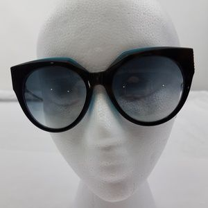 Roberto Cavalli Havana Cat Eye Sunglasses Blue Bla